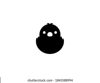 Hatching Chick vector icon. Isolated baby chick illustration