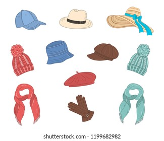 39650df3a75d7 French Beret Hat Stock Illustrations