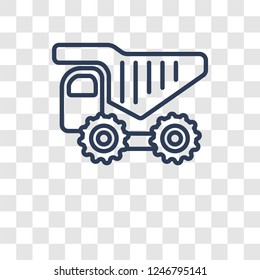 haul icon. Trendy haul logo concept on transparent background from Transportation collection