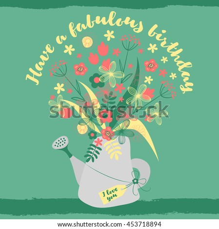 have fabulous birthday happy birthday greeting stock vector royalty