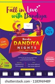 Have fun in Navaratri's holy bella, The dandiya striking satisfying of every heart,Garba Navratri, Garba Night, Dandiya Nights, Dandiya Night Celebration, Dandia Festival, Print Ad, Dandia Nights, A4