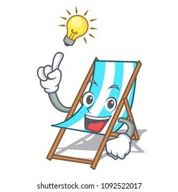 Have an idea beach chair mascot cartoon