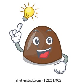 Have an idea chocolate candies mascot cartoon