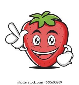 Have an idea strawberry cartoon character