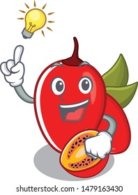Have an idea tamarillo betaceum with in mascot shape