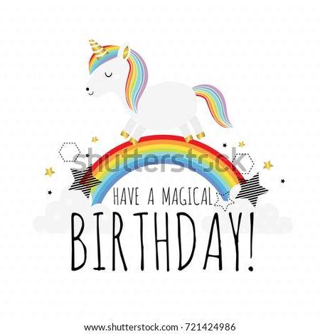 Have Magical Birthday Cute Vector Birthday Stock Vector Royalty