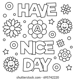 have nice day coloring page 260nw