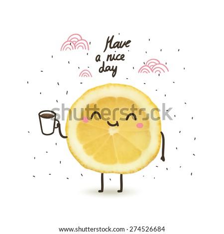 Have Nice Day Cute Funny Cartoon Stockvector Rechtenvrij 274526684