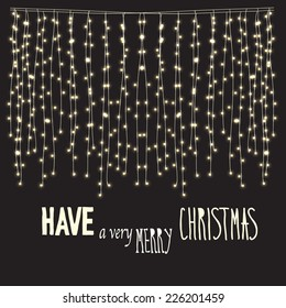 Have a very Marry Christmas card. Abstract background with glowing lights