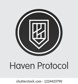 Haven Protocol XHV . - Vector Icon of Cryptographic Currency.