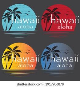 Hawaii aloha t-shirt logo design