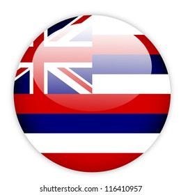 Hawaii flag button on white