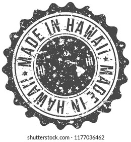 Hawaii Made In Map Travel Stamp Icon City Design Tourism Export Seal