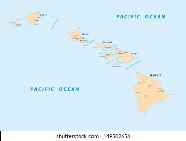 Hawaii Map Images, Stock Photos & Vectors | Shutterstock