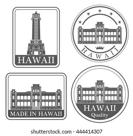 Hawaii. Rubber and stamp