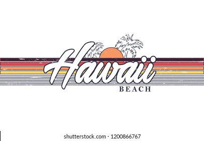 hawaii slogan for T-shirt printing design and various jobs, typography,  vector.