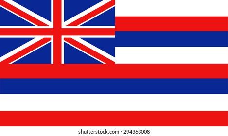 Hawaii state national flag. Vector EPS8
