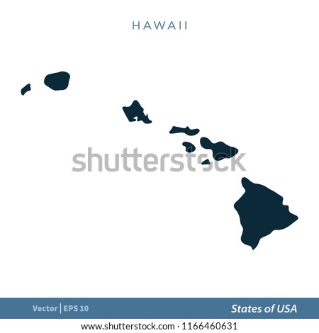 Hawaii States US Map Icon Vector Stock Vector (Royalty Free ...