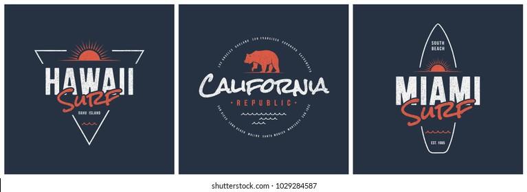 California Republic Beach Club Graphic T-shirt