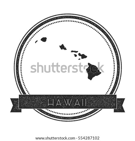 Hawaii Vector Map Stamp Retro Distressed Stock Vector Royalty Free