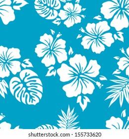 Hawaiian Aloha Shirt Seamless Background Pattern