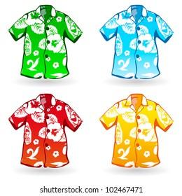 Hawaiian Aloha Shirts. Vector illustration