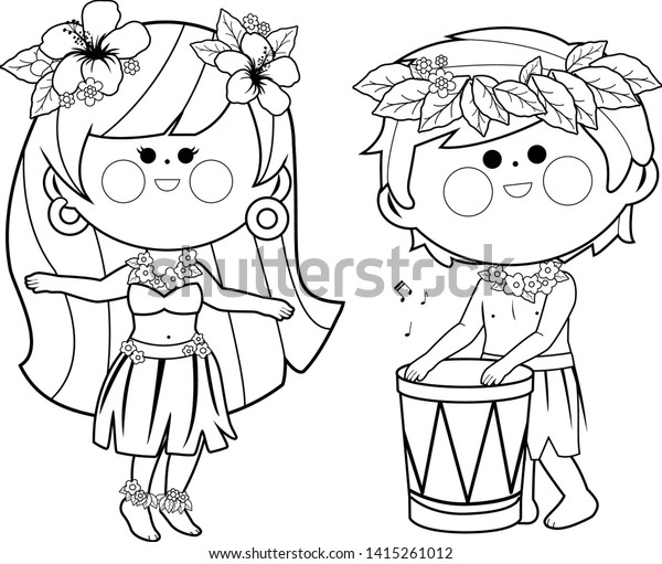 Lilo Hula Outfit Coloring Page - Free Lilo & Stitch Coloring Pages ... | 511x600
