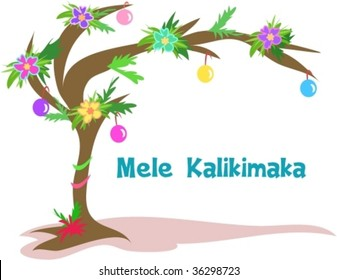 Hawaiian Christmas Tree Vector