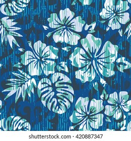 Hawaiian pattern seamless background tile