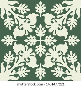 Hawaiian quilt illustration green), background, fabric, textile, summer image