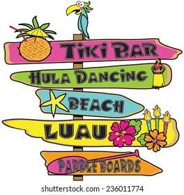 Hawaiian sign post