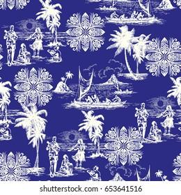 Hawaiian vacation pattern