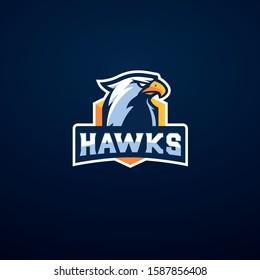 Hawk logo mascot vector. esport gaming logo