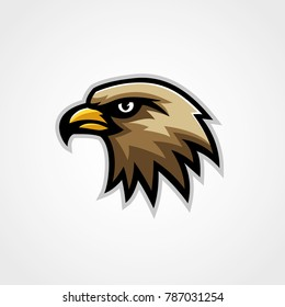 Hawk mascot logo vector eagle isolated