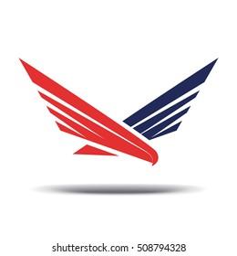 Hawk sign. Vector illustration. Logo template.