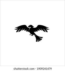 Hawk Symbol Logo. Tattoo Design. Vector Illustration.