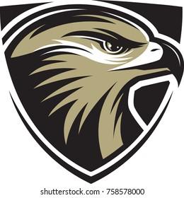 Hawk vector mascot