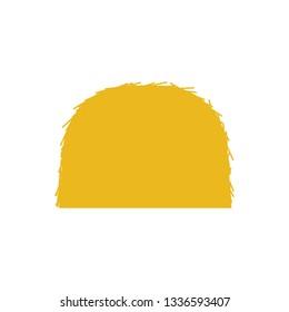 Hay stack icon. Flat color design. Vector illustration.