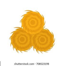 Haystack icon flat style. Isolated on white background. Vector illustration