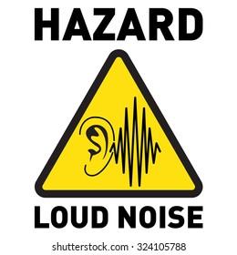 Hazard, Loud Noise. Vector icon