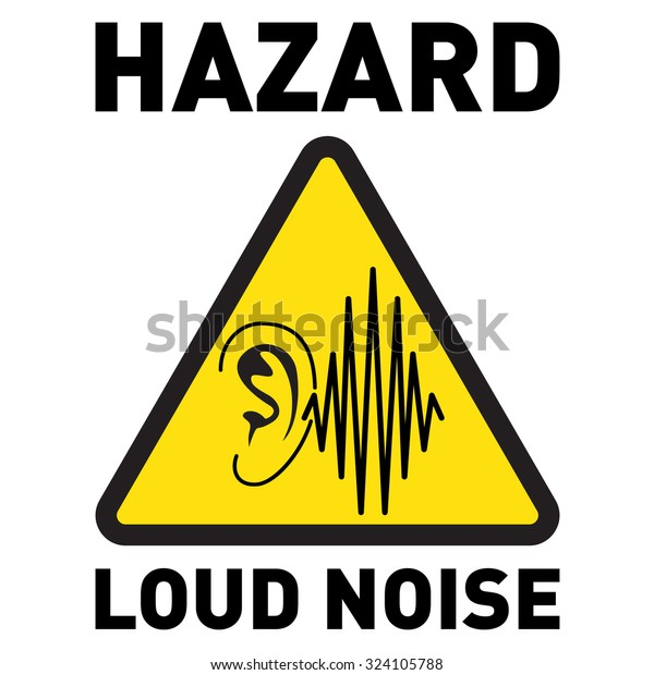 Hazard Loud Noise Vector Icon Stock Vector (Royalty Free