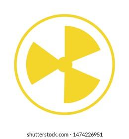 hazard nuclear icon. flat illustration of hazard nuclear vector icon. hazard nuclear sign symbol