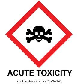 hazard pictogram, acute toxicity. Vector illustration