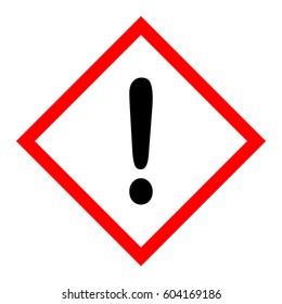 hazard pictogram caution sign.