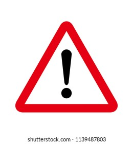 Hazard sign. Attention icon. Hazard warning attention sign. exclamation mark icon. Risk sign