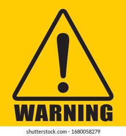 hazard sign icon vector triangle