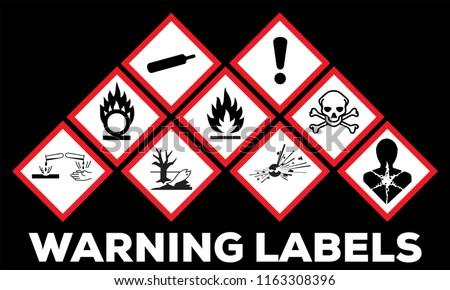 Hazard Symbol Ghs Safety Icon Set Stock Vector Royalty Free