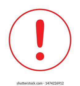 Hazard warning attention sign with exclamation mark symbol - Vector