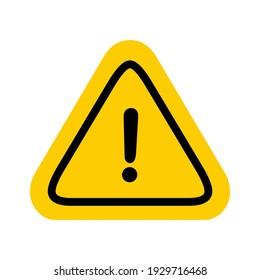 Hazard warning attention sign with exclamation mark symbols
