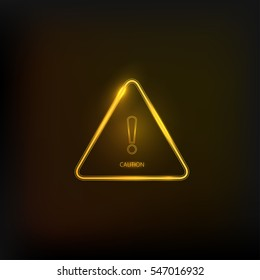 Hazard warning attention sign with exclamation mark symbol. Caution icon triangle. Vector  illustration.